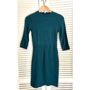 Top shop fitted teal dress